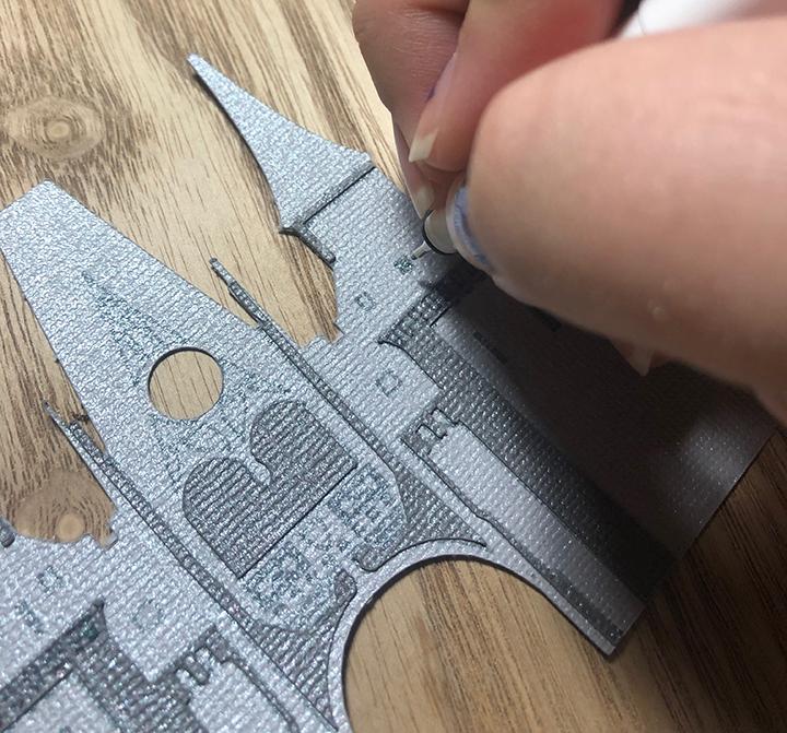Cinderella Castle Paper Art Assembly Detail