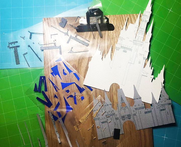 Cinderella Castle Paper Art Components