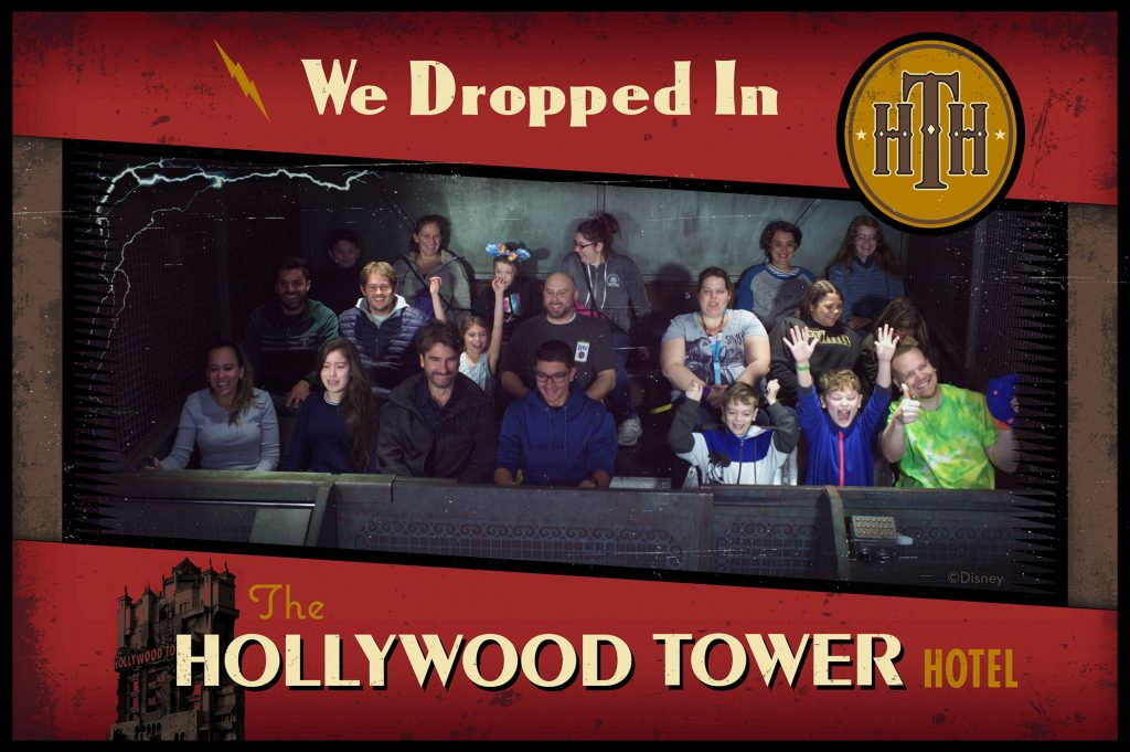 Me riding the Tower of Terror ride at Disney's Hollywood Studios.
