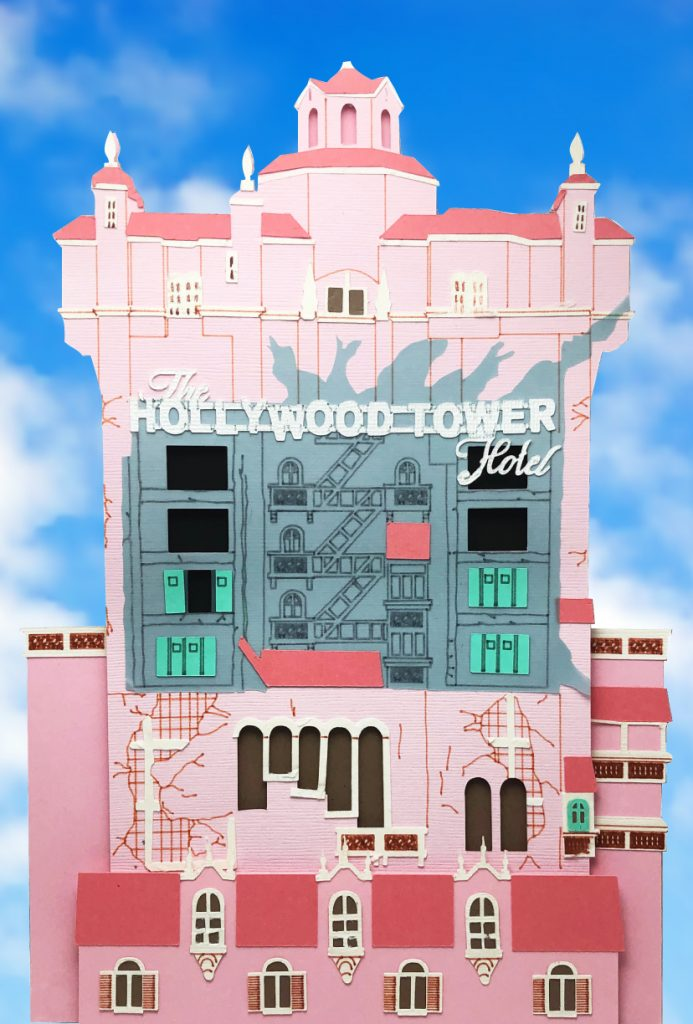 Twilight Zone Tower of Terror Paper Art