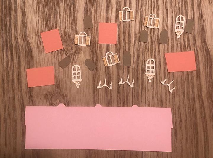 Paper art pieces