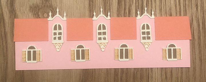 Paper art assembled