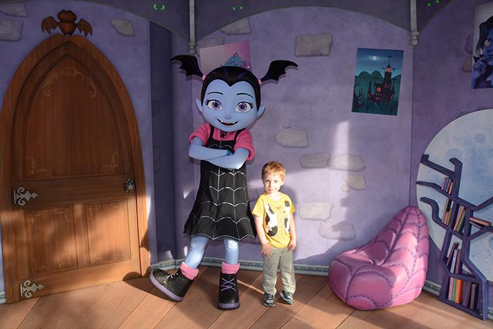 My son Harrison meeting Vampirina at Disney's Hollywood Studios.