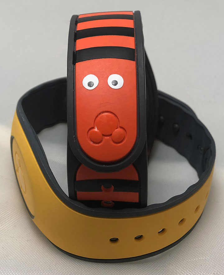 Nightmare before Christmas orange and black snake magic band.