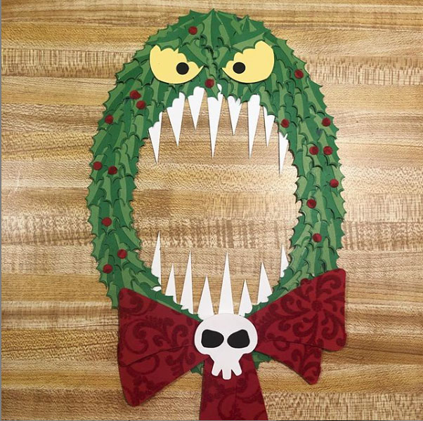 DIY Nightmare Before Christmas Monster Wreath